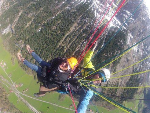 Paragliding in Lauterbrunnen, Switzerland